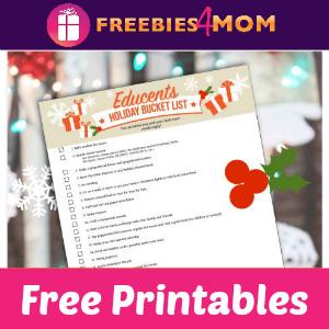 Free Holiday Bucket List Printables