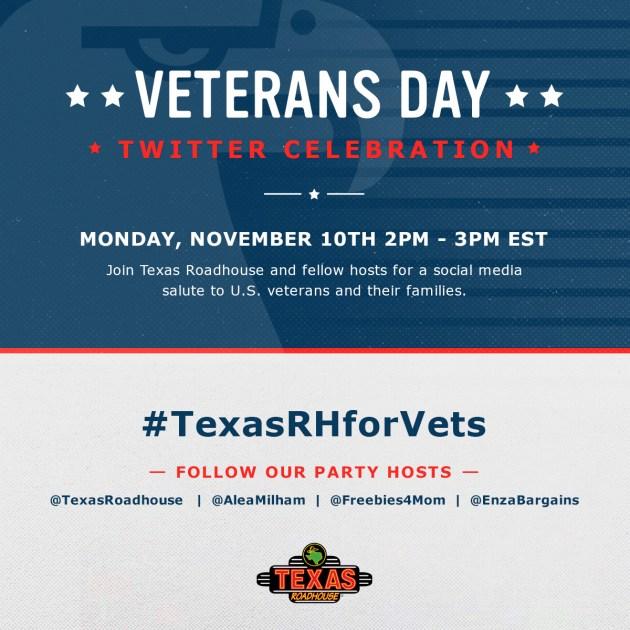 $400 in Prizes at #TexasRHforVets Twitter Party Nov. 10 2pm ET