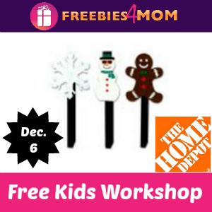 Free Kids Workshop Dec. 6 at Home Depot