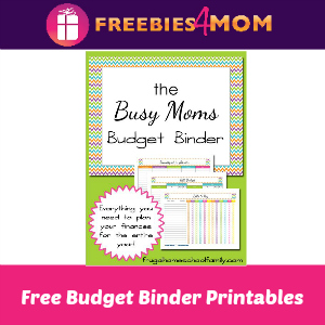 Free Budget Binder For Busy Moms Printable