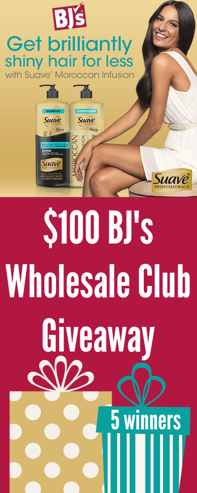 $100 BJ's Wholesale Club Gift Card Giveaway ~ You'll love your #SuaveShinyHair