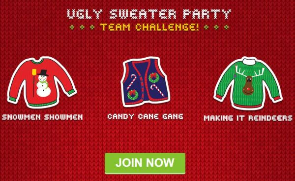 Swagbucks Ugly Sweater Party Team Challenge