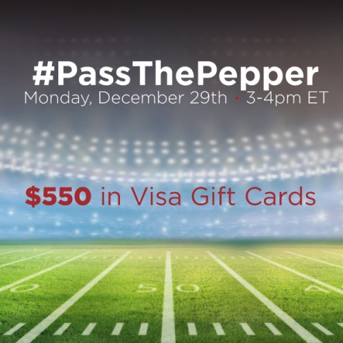 #PassThePepper-Twitter-Party-12-29-3pmEST,#TwitterParty,#ad,sweepstakes on Twitter
