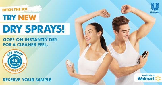 #TRYDRY Dry Sprays at Walmart