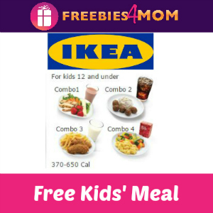 Free Kids' Meal at IKEA on Tuesdays