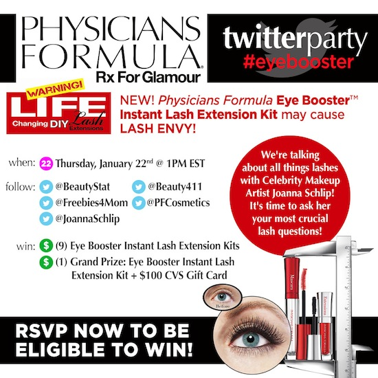 10 Prizes at #eyebooster Twitter Party Jan. 22 1pm ET