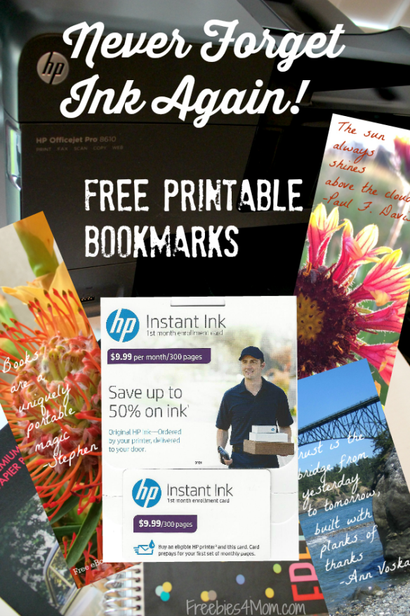Never Forget Ink Again with HP Instant Ink ~ Free Printable
