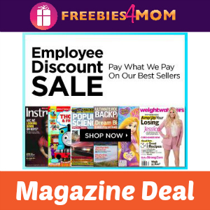 Magazine Sale: Employee Discounts