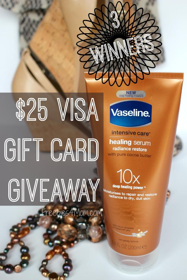 $25 Visa Gift Card Giveaway ~ Try Vaseline Healing Serum
