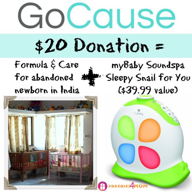Donate $20, Get myBaby Soundspa Sleepy Snail ($39.99 value)