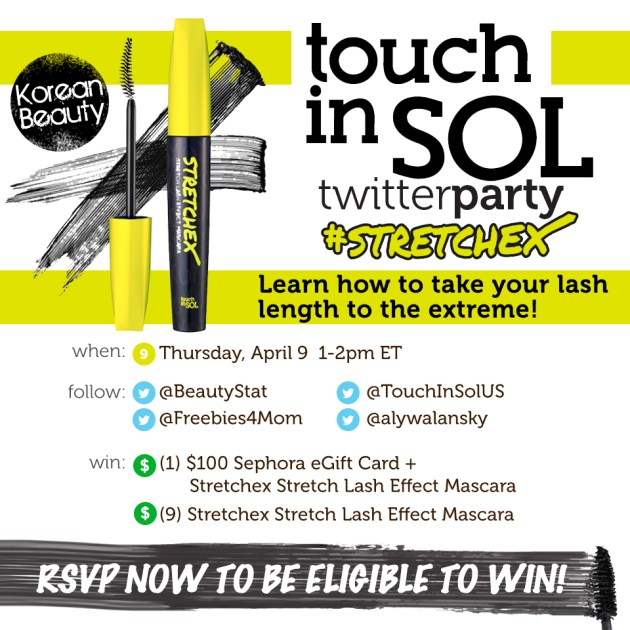 10 Winners at #Stretchex Mascara Twitter Party Apr. 9 1pm ET