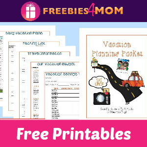 Free Printable Vacation Planning Packet