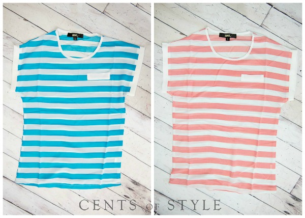 Striped Spring Blouse $10.95 + Free Shipping