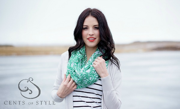 $7.99 Art Deco Infinity Scarves