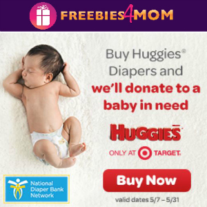 Huggies and Target Donate Diapers