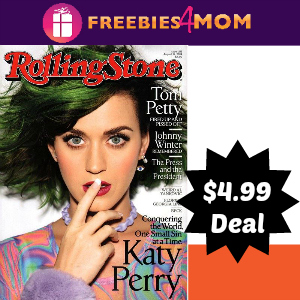 Magazine Sale: Rolling Stone $4.99