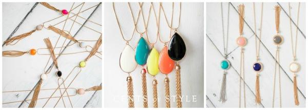 Reversible Fringe Necklaces $11.95