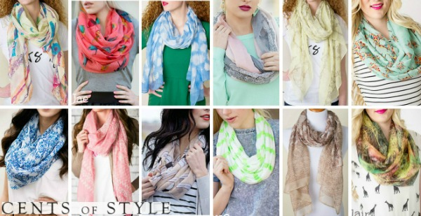 60% off Scarves (Starting at $3.98)