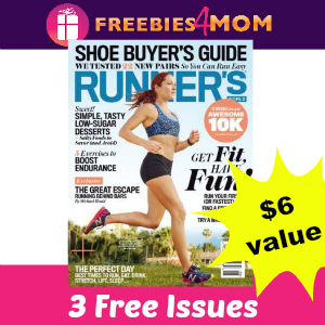 Free Runner's World Magazine (3 issues, $6 value)