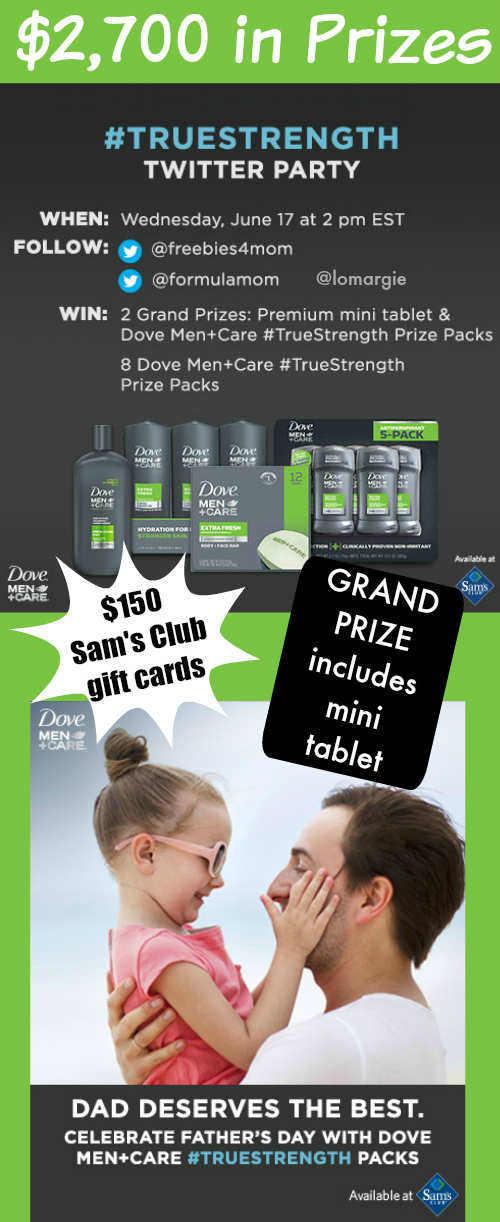 $2,700 in Prizes at #TrueStrength Father's Day Twitter Party June 17 2pm ET