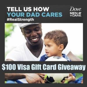 $100 Visa Gift Card Winner ~ Dove Men+Care #RealStrength