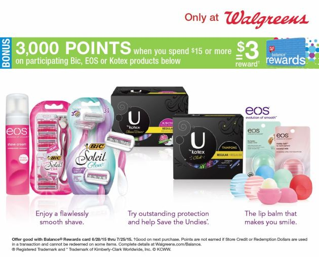 Kotex Deal at Walgreens