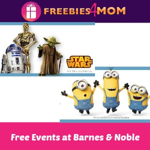 Free Minion & Star Wars Fun at Barnes & Noble
