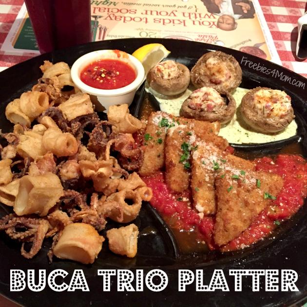 Buca Trio Platter Appetizer at Buca di Beppo