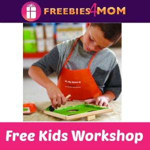 Free Kids Workshop at Home Depot Sept. 5