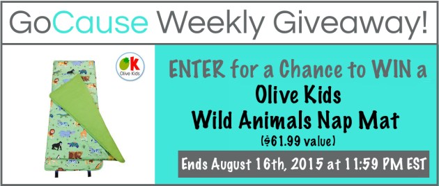 GoCause Giveaway for Olive Kids Wild Animals Nap Mat