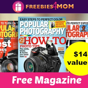 Free Popular Photography Magazine ($14 value)