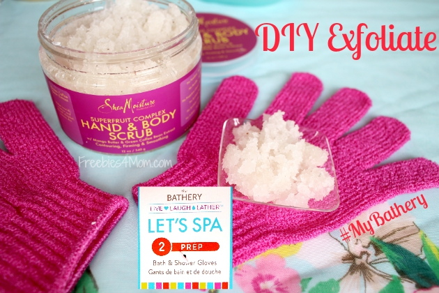 DIY Exfoliate at-home spa treatment