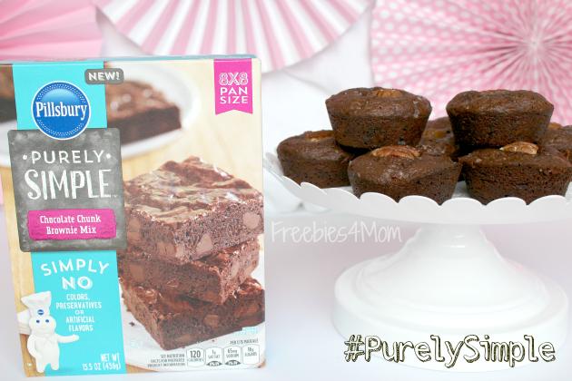 Salted Caramel Chocolate Chunk Brownies made with Pillsbury Purely Simple Chocolate Chunk Brownie Mix