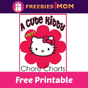 Free Hello Kitty Inspired Chore Charts