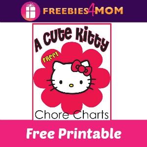 Free Hello Kitty Inspired Chore Charts