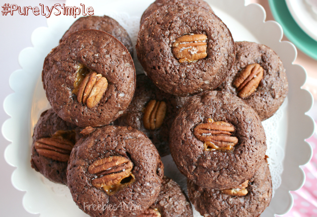 Serving Salted Caramel Chocolate Chunk Brownies