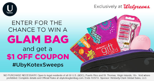 U by Kotex Walgreens Coupon
