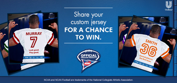 Share your custom jersey for a chance to win a $100 College Football Store gift card