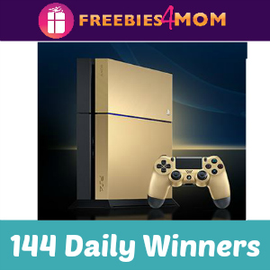 Sweeps Win a Limited Edition Gold PlayStation®4