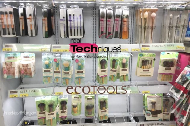 Real Techniques and EcoTools makeup brushes at Walmart
