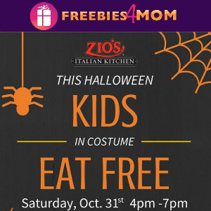Kids Eat Free at Zio's on Halloween