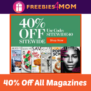 40% Off Site Wide at Discount Mags