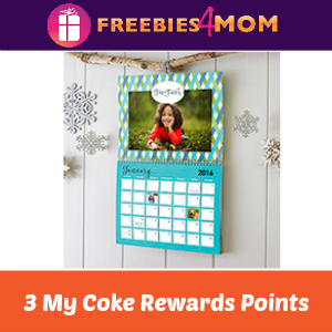 Shutterfly Calendar for 3 My Coke Rewards Points