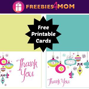 Free Printable Christmas Thank You Cards