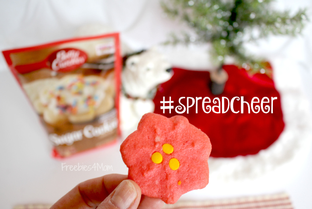 Poinsetta Cookies to #SpreadCheer