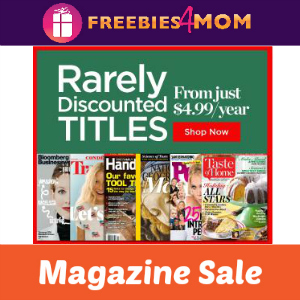 Rarely Discounted Magazine Titles Sale
