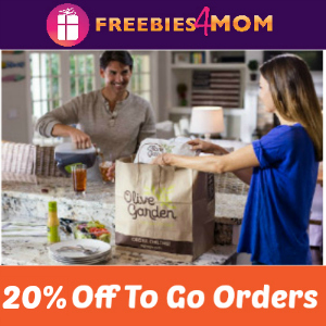 Save 20% Off Olive Garden To Go