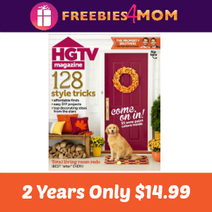 HGTV Magazine 2 Years Only $14.99
