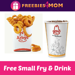 Free Small Fries & Drink with purchase at Arby's