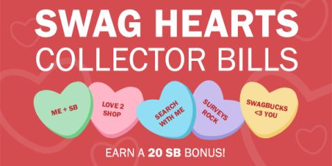 Swag Hearts Collector Bills at Swagbucks
